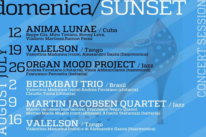 DOMENICA – SUNSET Concert Session al Mar De Plata