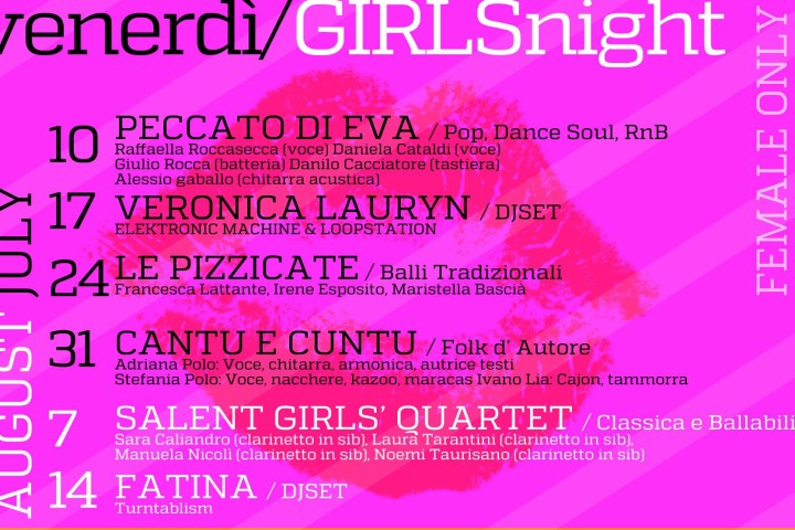 VENERDI – GIRLS NIGHT al Mar De Plata